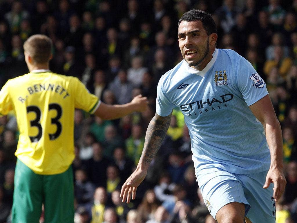 Ducking and 'diving': Tevez left a post-match interview