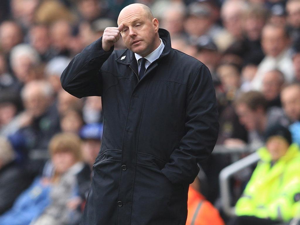 Blackburn's Steve Kean feels the pressure against Swansea