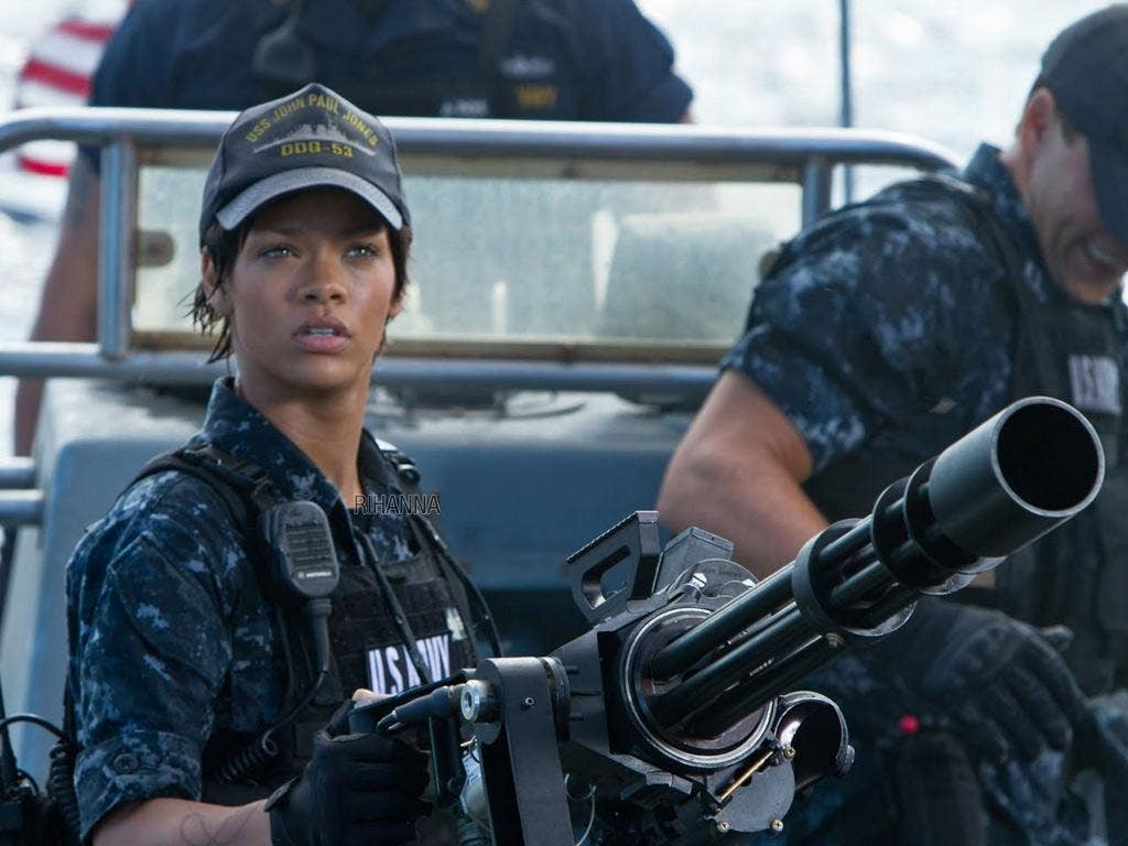 Making waves: Rihanna in the special-effects sci-fi thriller 'Battleship'