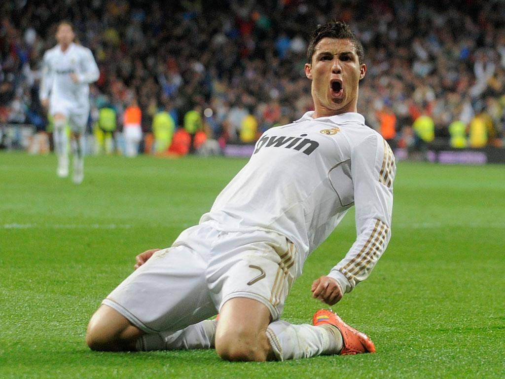 Ronaldo's 41 league goals for Real this season put him on a par with Barcelona's Messi