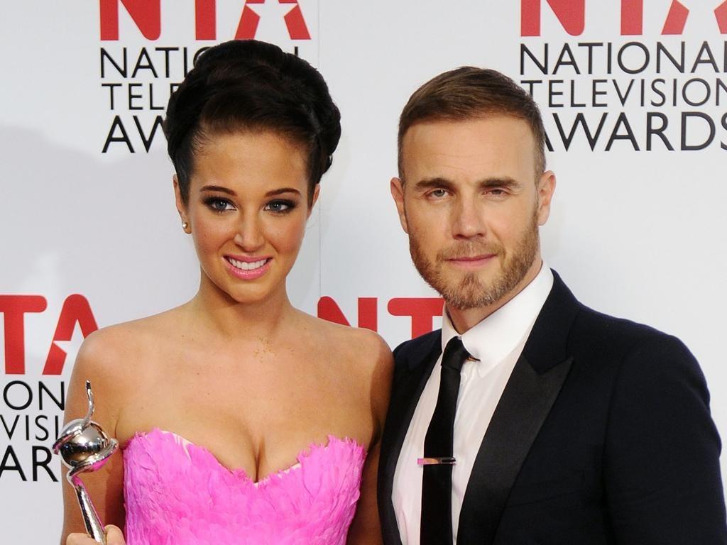 Tulisa with fellow judge Gary Barlow at the National Television Awards in January
