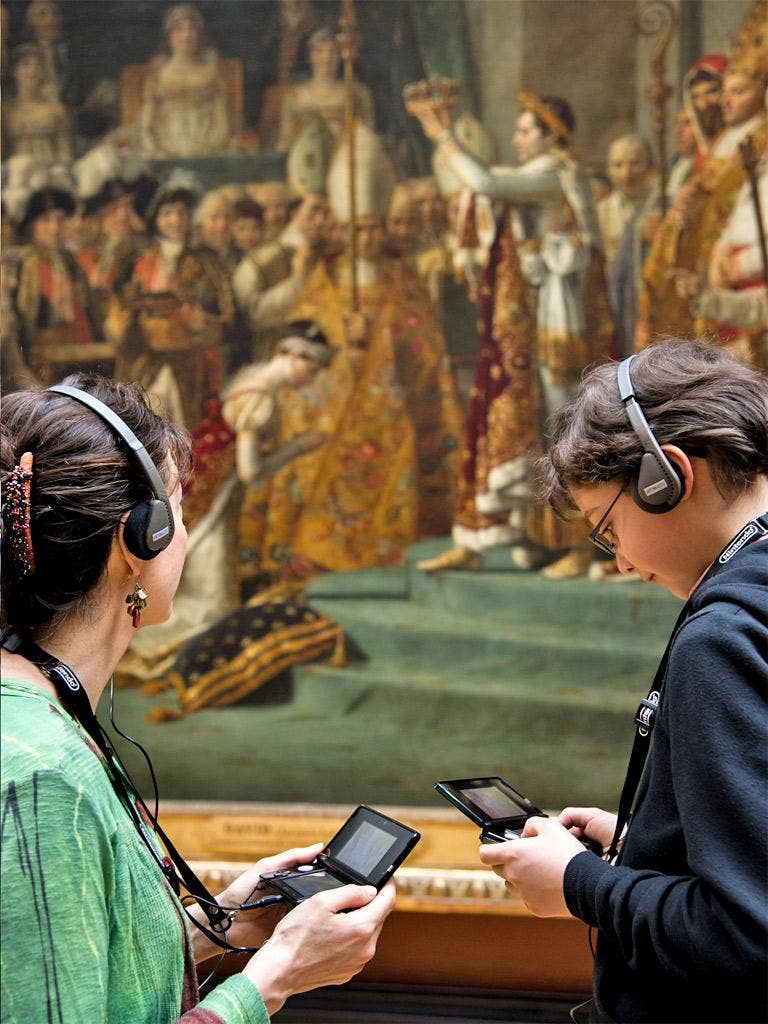 Visitors to the Louvre are given fresh perspective through the Nintendo 3DS guides
