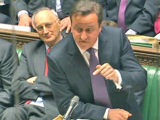 David Cameron acting like a pushy 12-year-old during PMQs