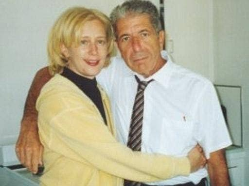 Leonard Cohen with his former manager and lover, Kelley Lynch