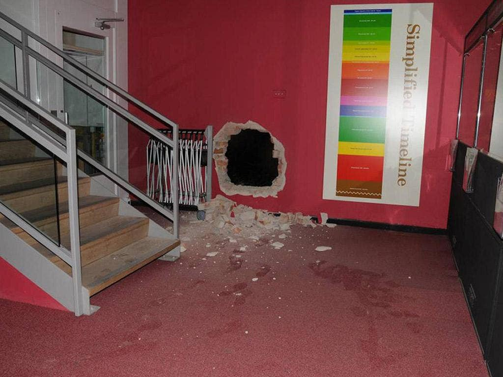 On 5 April, thieves broke into Durham University through a hole in the wall, and took a jade bowl and a porcelain sculpture worth £2m. Four men and one woman have been arrested