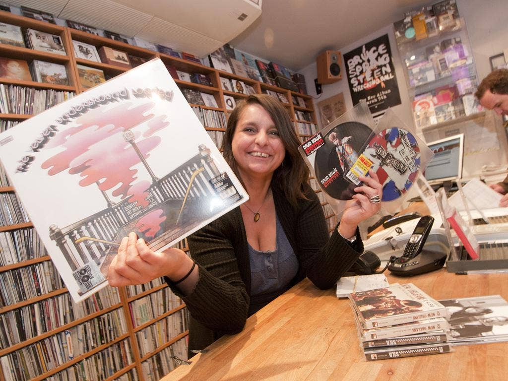 Natasha Youngs prepares for the rush at Resident Records in Brighton