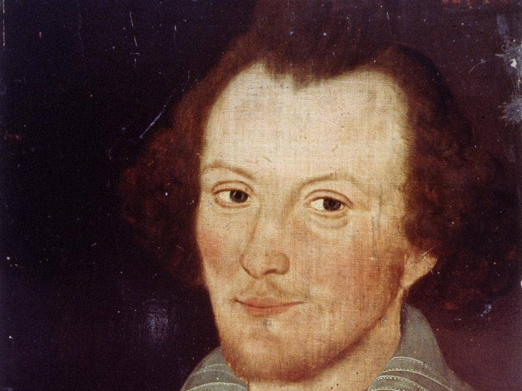 All-seeing Eye: A man thought to be Shakespeare, at 39. His birth and death are marked tomorrow