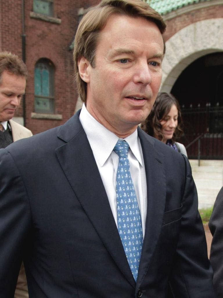 JOHN EDWARDS: The former US Senator faces up to 30 years in prison if convicted