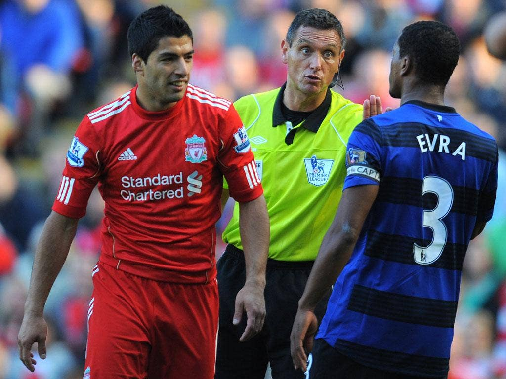 Andre Marriner was the referee for United's match at Anfield