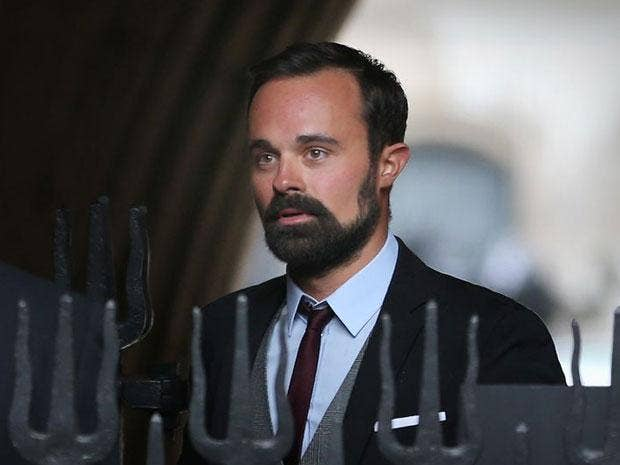 Evgeny Lebedev arrives at the High Court today