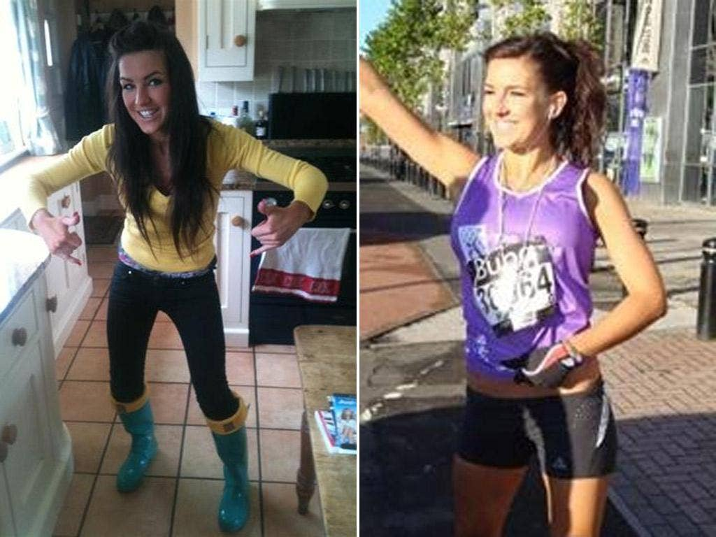 Claire Squires: Images from her JustGiving fund-raising website page, where thousands of people have been donating after her death in the marathon yesterday