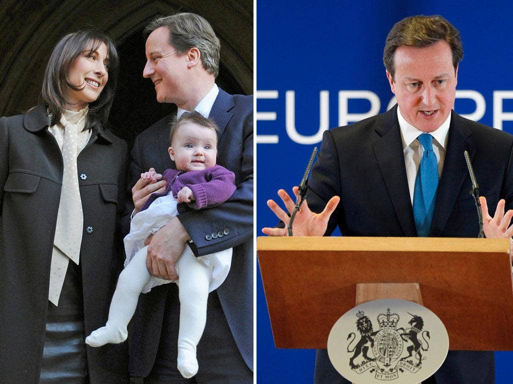 Work, rest and play: David Cameron attempts to be everyman