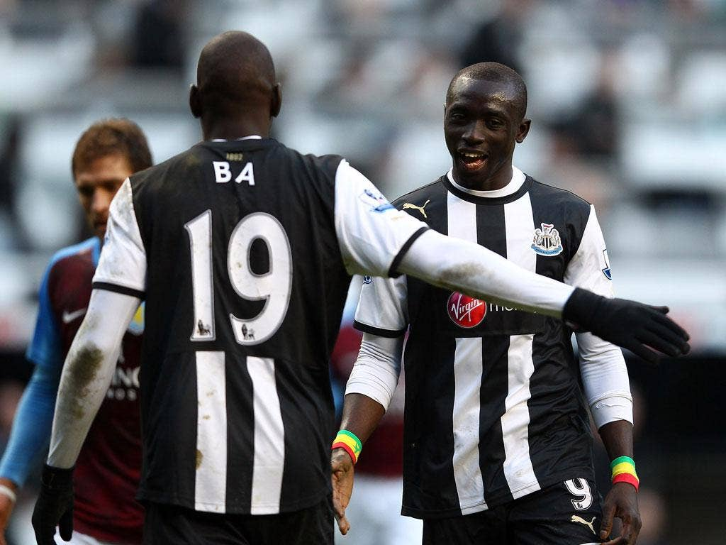 Papiss Cisse and Demba Ba have struck up a fine partnership at Newcastle