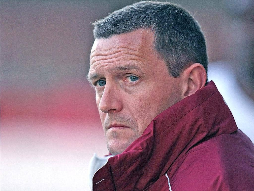 Northampton Town manager Aidy Boothroyd looks on during the League Two match at Crawley last week