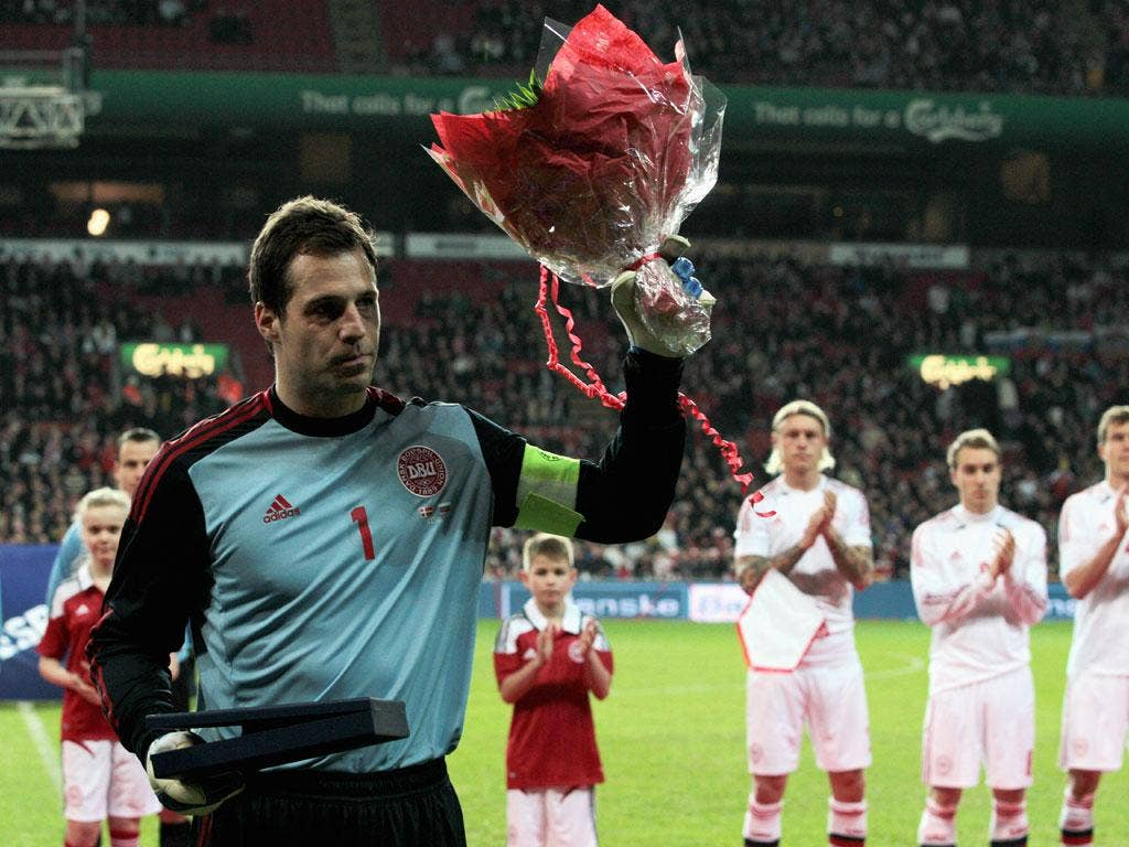 Denmark keeper Thomas Sorensen