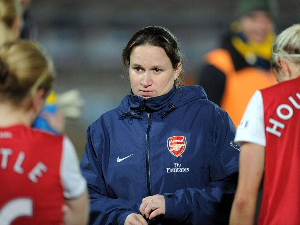 Arsenal Ladies manager Laura Harvey