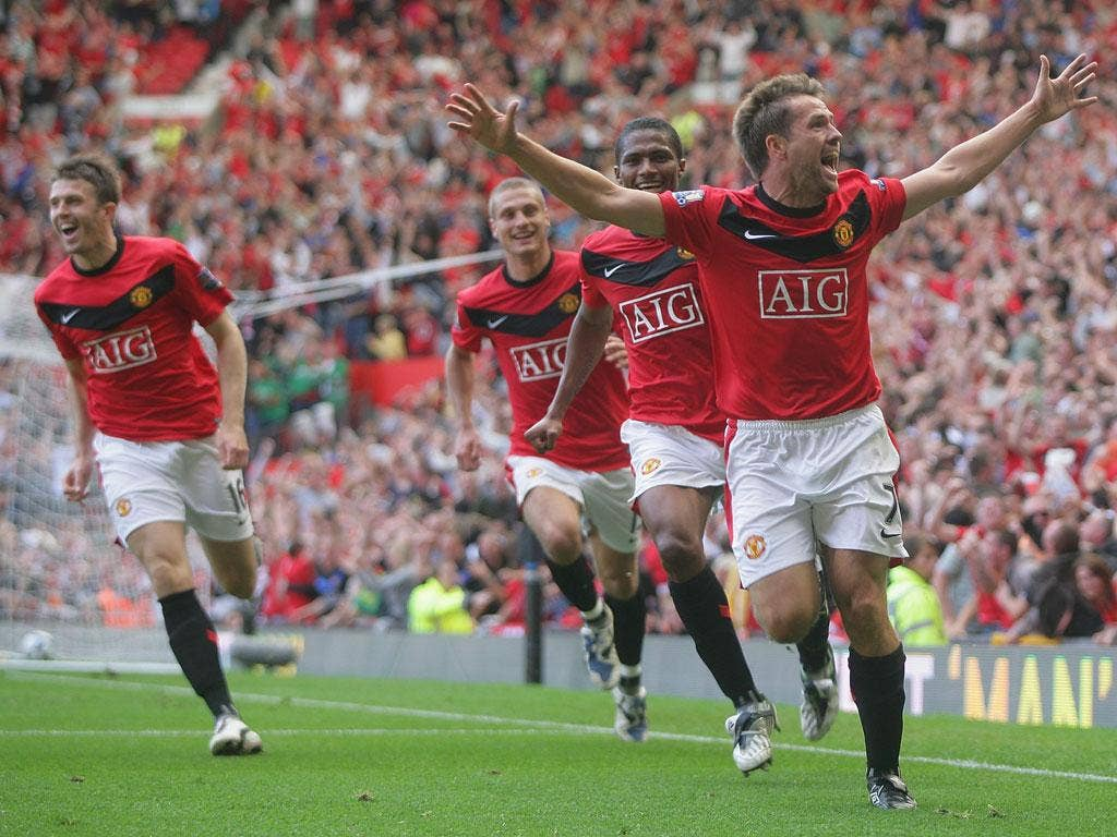 <b>Manchester United 4 Manchester City 3</b><br/> <b>September 2009</b><br/> Huge investment in the blue half of Manchester meant that when the sides met at Old Trafford at the start of the 2009/10 season the two teams were on a more equal footing than th