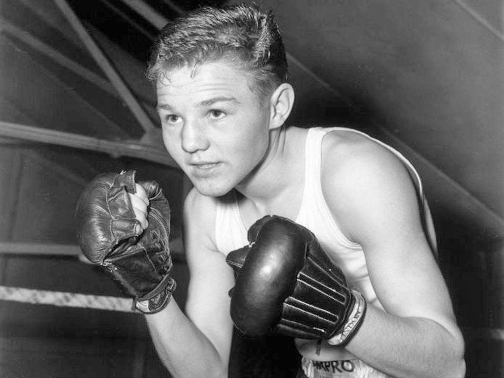'The Golden Boy': Spinks in 1956, the year of his Olympic victory