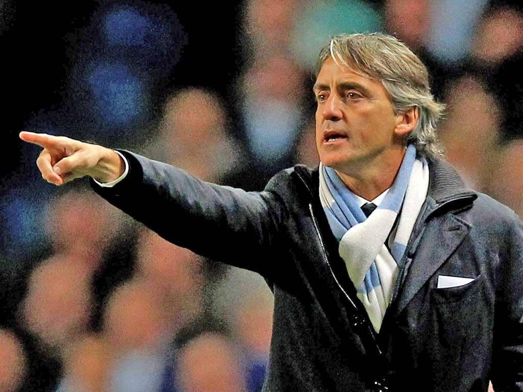 City manager Roberto Mancini has faith in Tevez to score the most important goal in the club's history