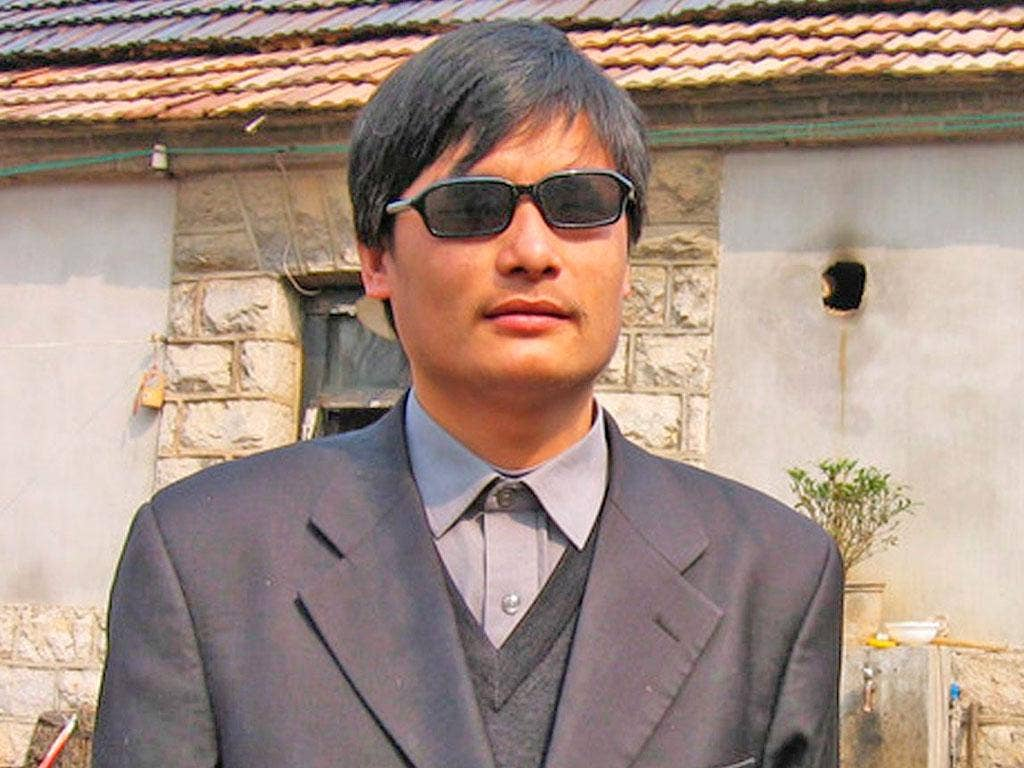 CHEN GUANGCHENG: The activist has angered authorities by exposing forced abortions and sterilisations