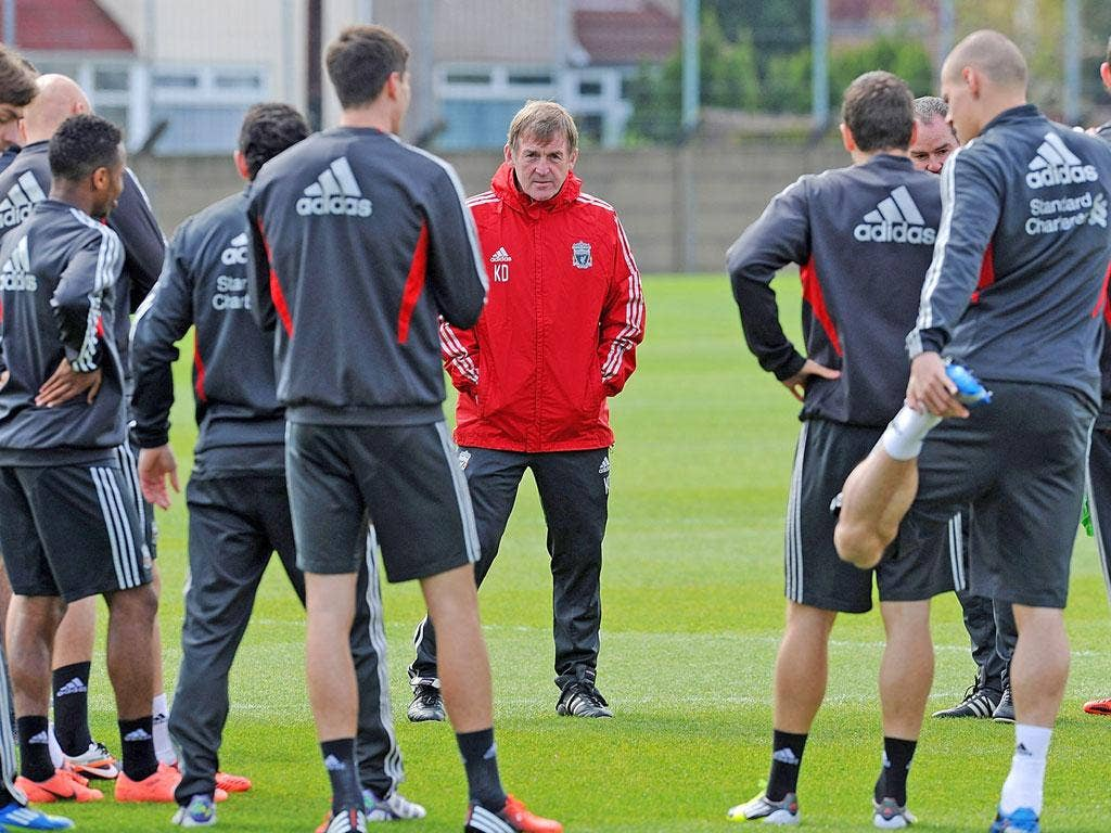 Kenny Dalglish addresses his men before tomorrow's cup final