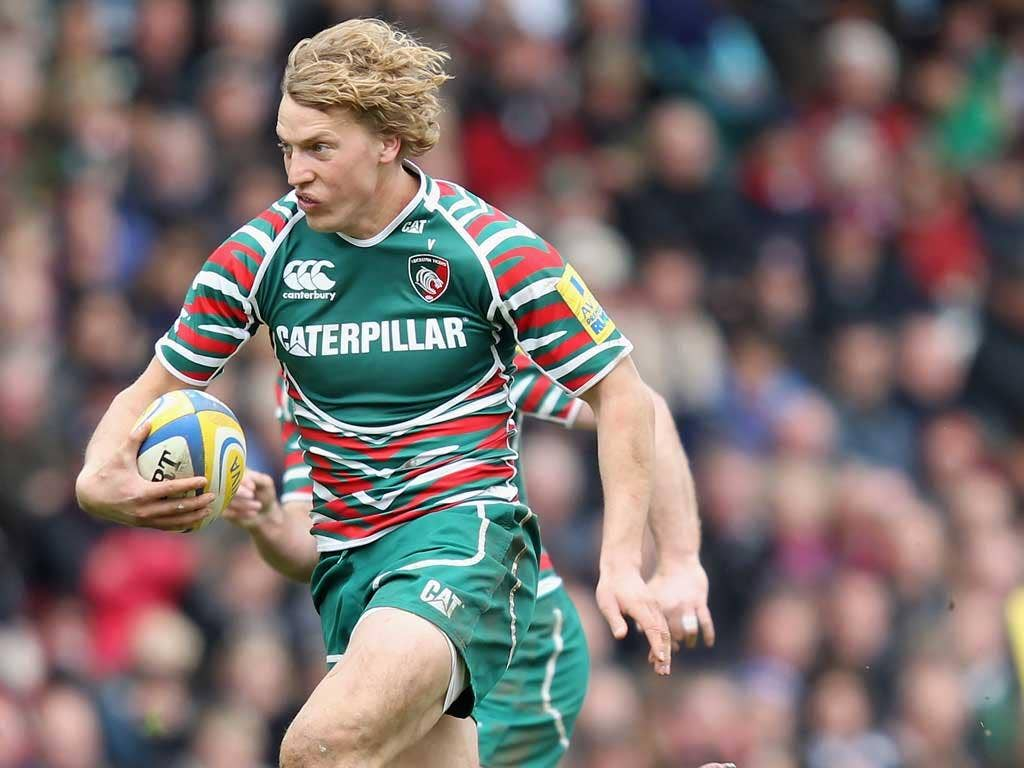 Billy Twelvetrees (pictured) kicked 10 points and inspired a second half that Leicester won 25-3