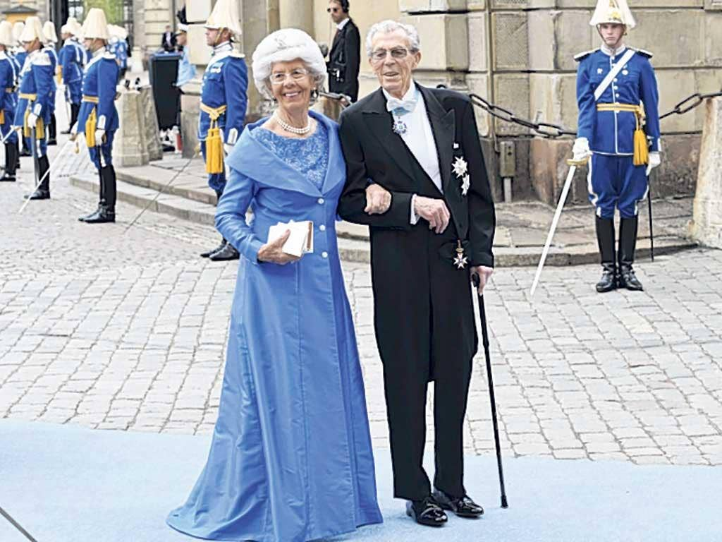 Bernadotte and his second wife, Gunilla, in Stockholm in 2010