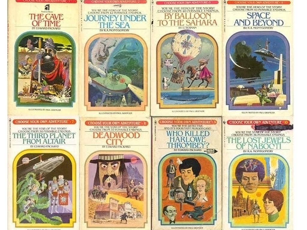 Choose Your Own Adventure novels, were hugely popular in the 1980s and shifted over 250 million copies