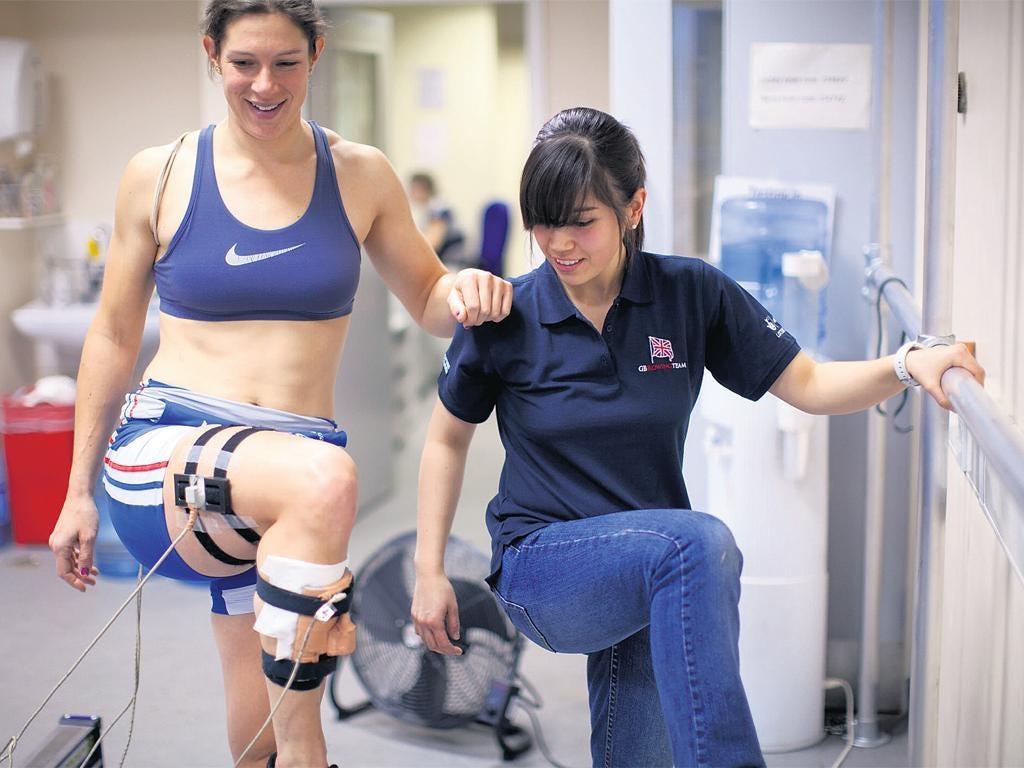 Erica Buckeridge (right) is using biomechanical analysis to help GB athletes reach their peak