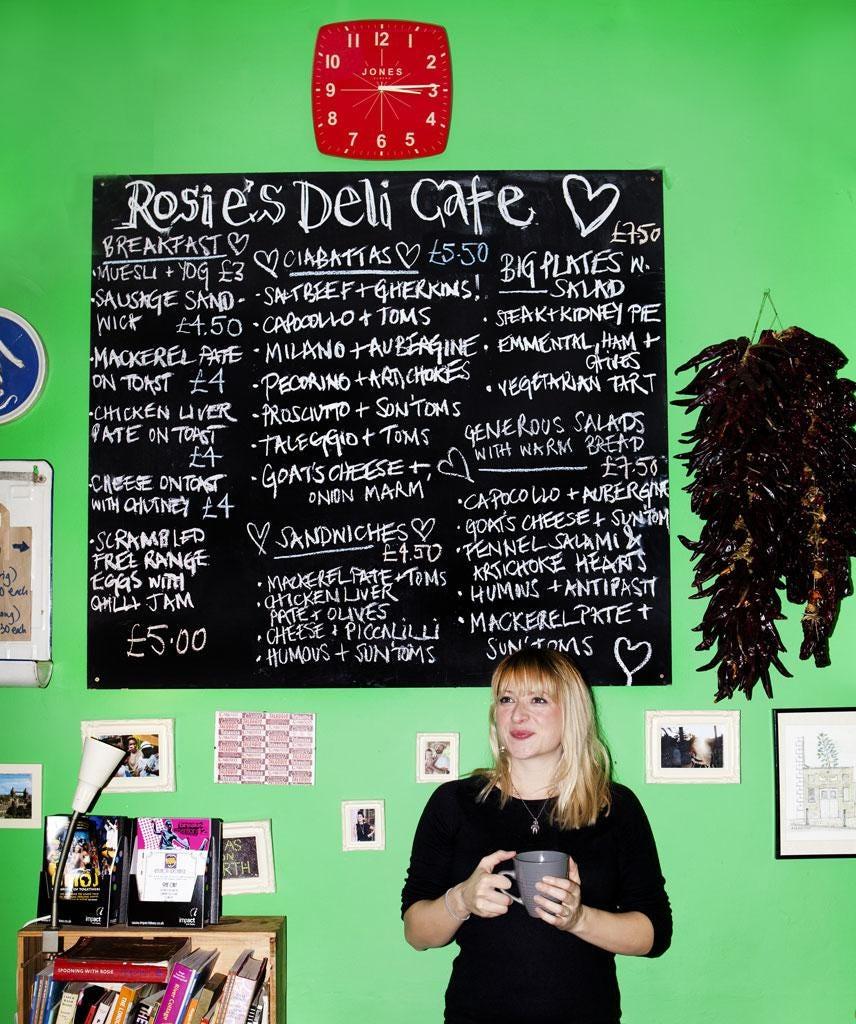 Lovell at Rosie's Deli Café in Brixton Market