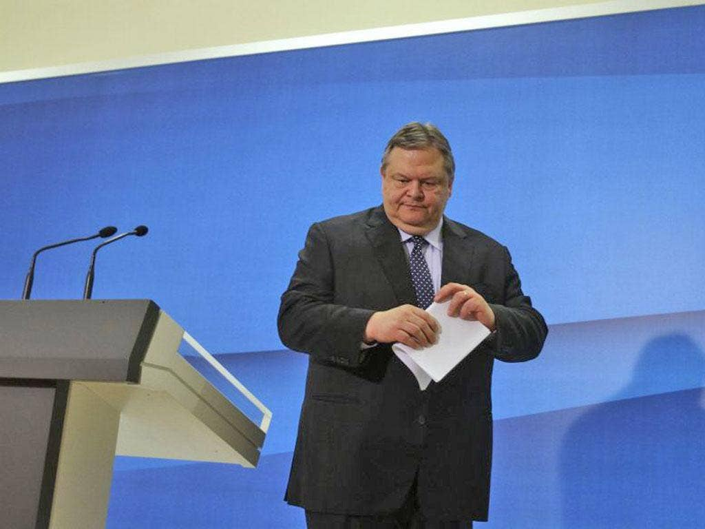 Pasok's Evangelos Venizelos is trying to form a government