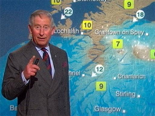An absolute shower: Prince Charles fulfils a lifelong ambition