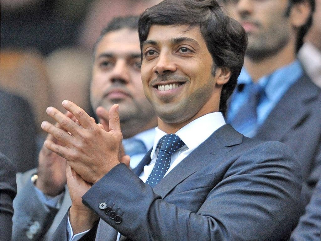 Manchester City owner Sheikh Mansour bin Zayed al-Nahyan may tomorrow attend only his second game since buying the club in 2008