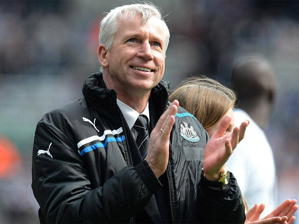 Alan Pardew was yesterday named Barclays manager of the season
