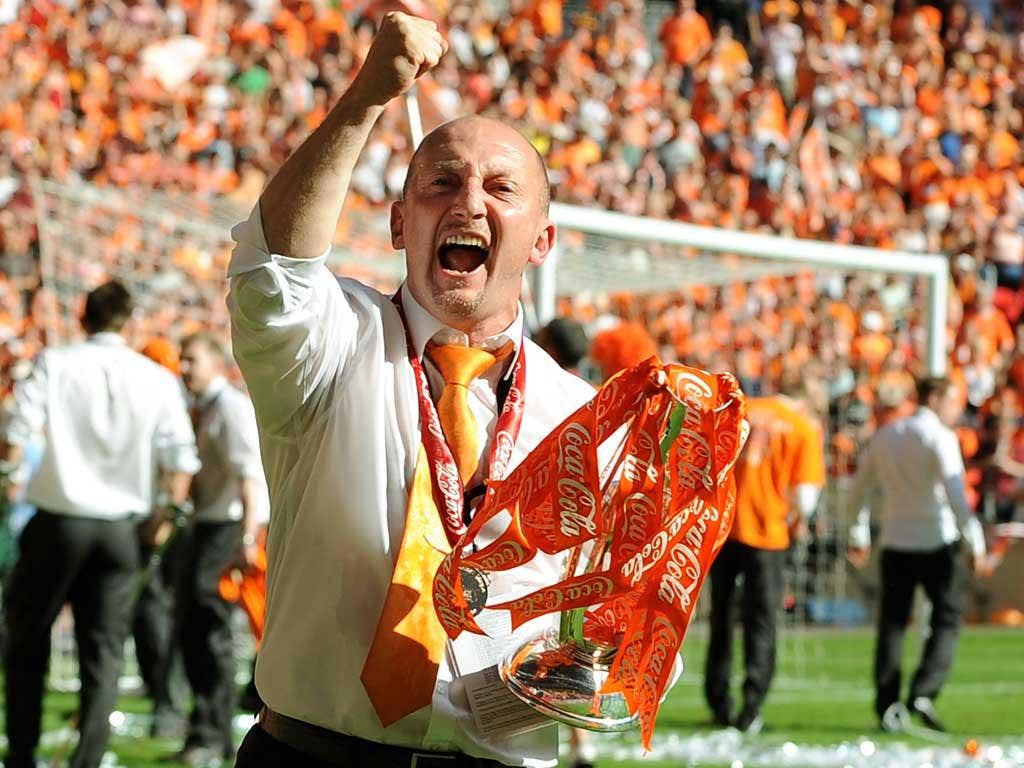 Roar potential: Blackpool have already won one Championship play-off final, against Cardiff City in 2010, and the celebrations after that match make me determined to repeat the experience against West Ham United on Saturday