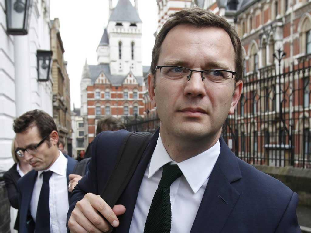 Andy Coulson after giving evidence to Leveson on Thursday