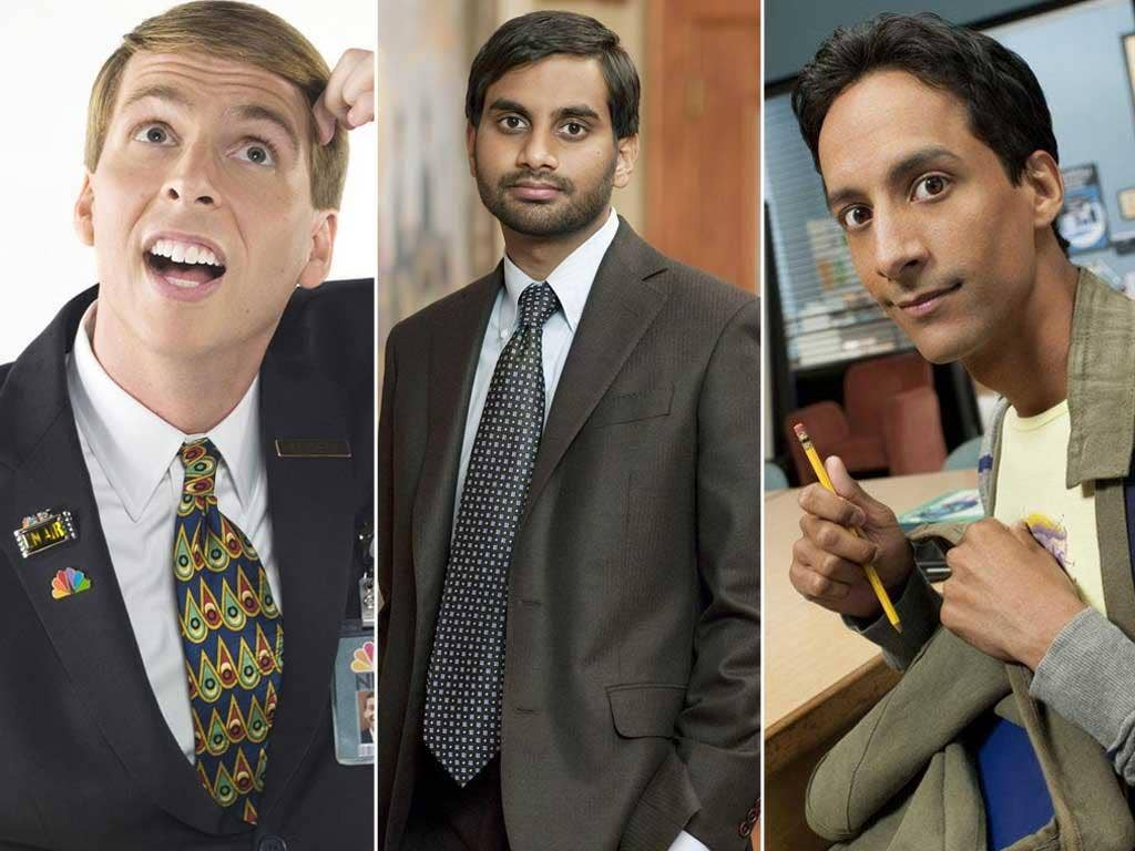 "Actors (from left):Kenneth ""the Page"" Parcell, Aziz Ansari and Danny Pudi as Abed"