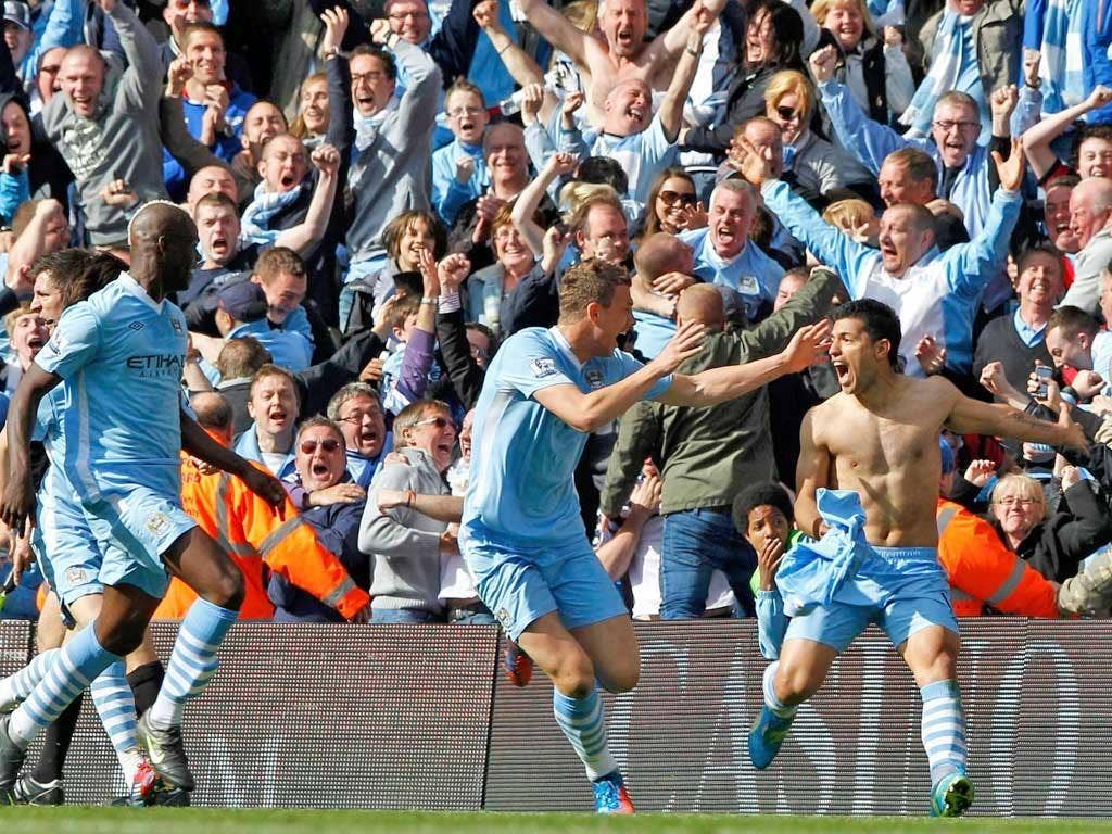 The joy on Sergio Aguero's face is there for all to see – his last-gasp goal won City the league