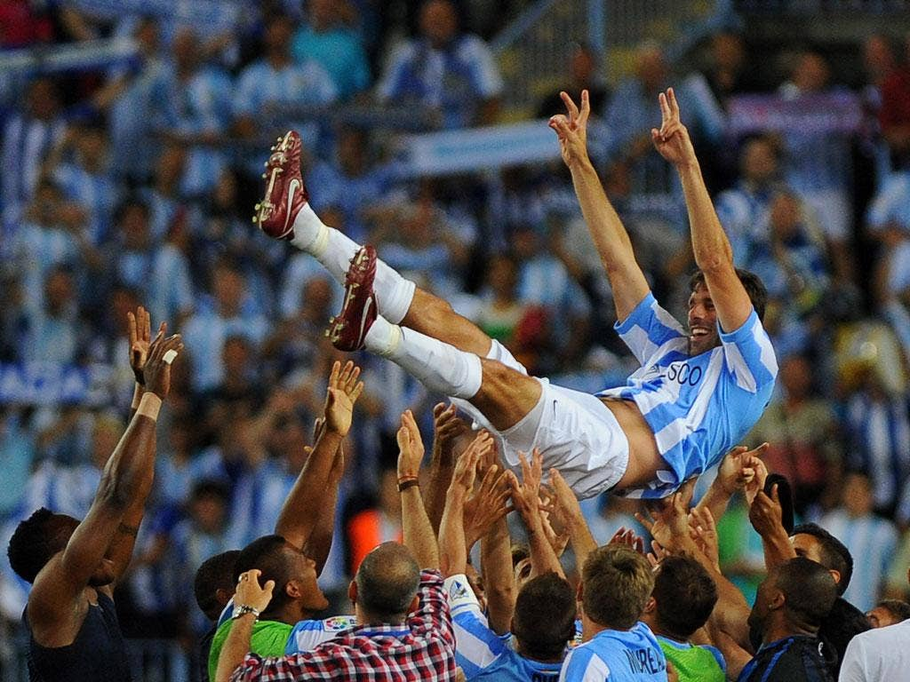 Ruud van Nistelrooy helped Malaga qualify for the Champions League