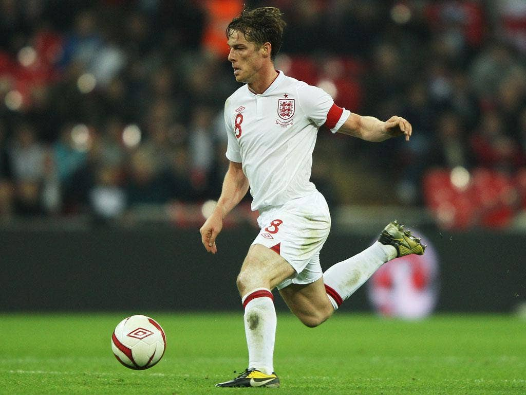 <b>Scott Parker (Tottenham)</b><br/> <b>Age</b> 31<br/> <b>Caps</b> 11<br/> <b>England moment:</b> Selected as captain by caretaker manager Stuart Pearce for friendly match with Holland.