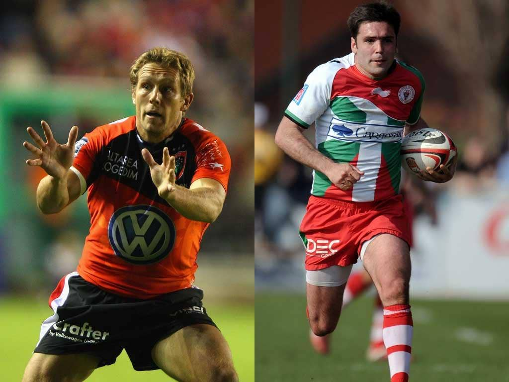All eyes may be on Jonny Wilkinson (left) of Toulon but the key figure at the Stoop is likely to be Biarritz's Dimitri Yachvili