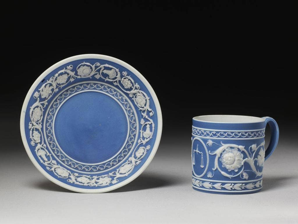 """<p><b>Jasperware, by Wedgwood, circa 1800</b></p> <p>""""Josiah Wedgwood was an incredible pioneer of the industrial revolution ... I'm fascinated by the immaculate quality of these industrially produced pieces and the way in which Wedgwood invented the syst"""