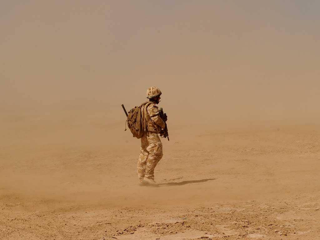 Isolated: British soldiers will carry on in Helmand as US troops leave