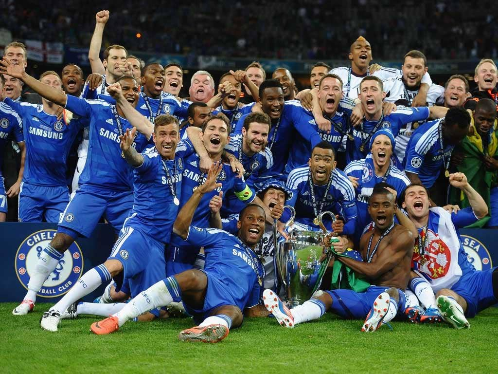 We've done it! Chelsea players show their joy on a night of huge celebration