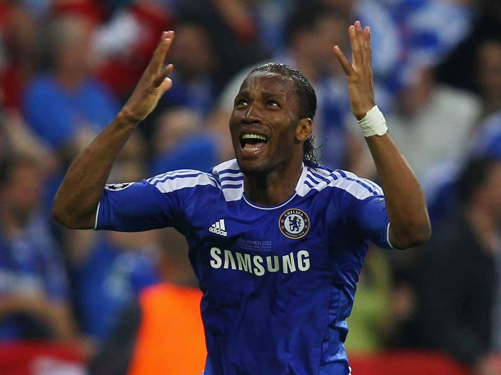 The striker contributed to this final's defining moments. Actor or performer, ultimately this was a magical way for Drogba to bow out, scoring the decisive penalty with his last kick in a blue shirt
