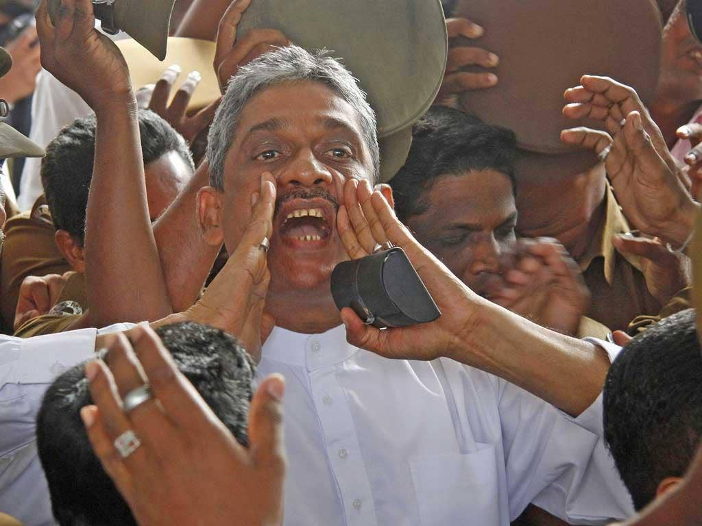Former army chief Sarath Fonseka has been freed