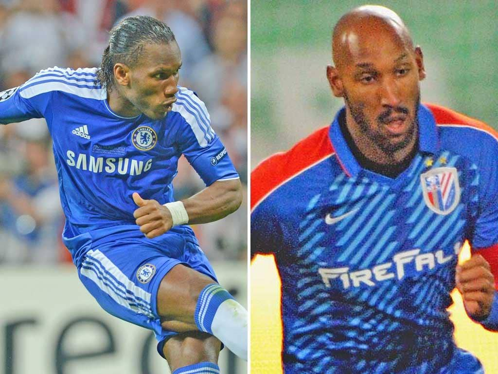 Didier Drogba will soon leave Chelsea and Nicolas Anelka, right, joined Shangai Shenhua from Chelsea in January