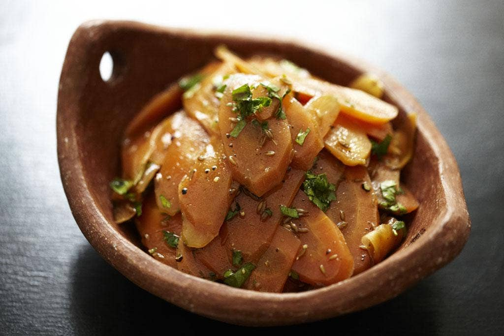 Carrot and cumin salad is perfect for a mezze-type buffet or with meat or fish like red mullet
