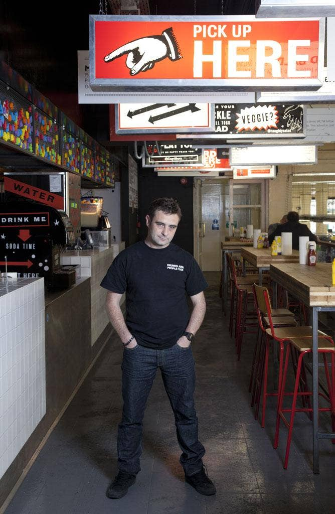 Burger expert Yianni Papoutsis is owner of the Meatwagon van and MeatLiquor restaurant