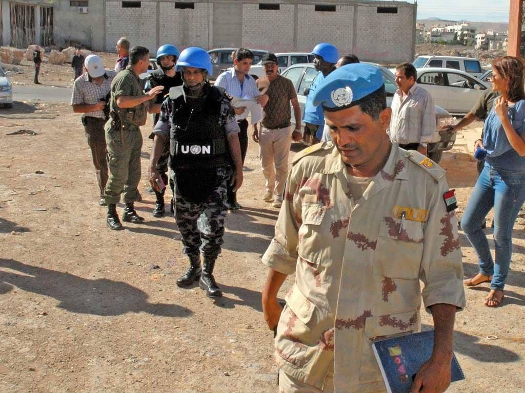UN monitors have supported opposition claims that regime forces were behind the massacre